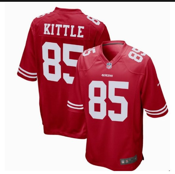 Men's 49ers 85# George Kittle Game Jersey Red