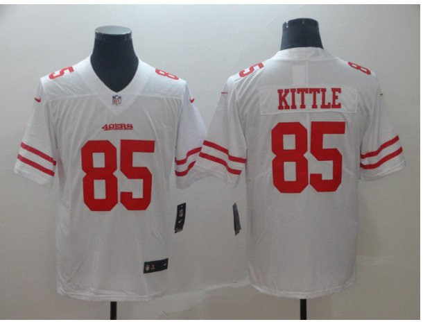 Men's 49ers 85# George Kittle Limited Jersey White