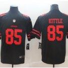 Men's 49ers 85# George Kittle Color Rush Jersey Black