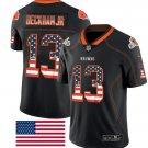 Men's Cleveland Browns Odell Beckham Jr Limited USA Flag Jersey Black