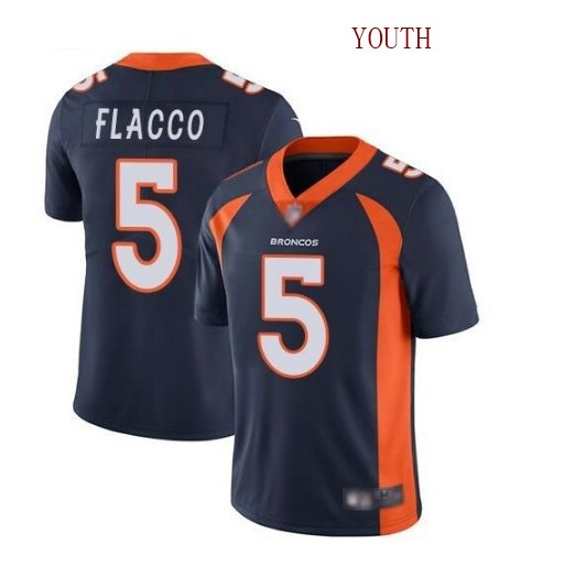 Youth boys Joe Flacco Denver Broncos color rush limited jersey blue