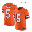 Youth boys Joe Flacco Denver Broncos color rush limited jersey orange