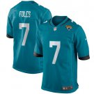 Men's Nick Foles Teal blue Jacksonville Jaguars Game Jersey