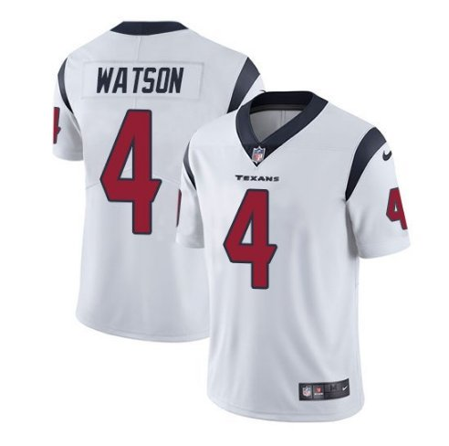 Youth Deshaun Watson Jersey #4 Houston Texans White Stitched Football Jersey S-XL