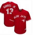 Men's Lourdes Gurriel Jr. #13 Toronto Blue Jays Red Cool Base Alternate Jersey