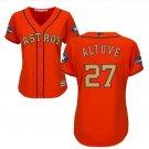 Women's Astros #27 Jose Altuve Orange 2018 Gold Program Embroidered Jersey