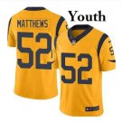 Youth Green Bay Packers #52 Clay Matthews black Stitched Football jersey