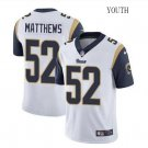 Youth Green Bay Packers #52 Clay Matthews Navy Blue Stitched Football jersey