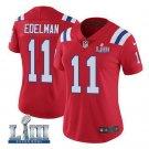Women's Patriots #11 Julian Edelman Alternate Red Stitched Jersey Super Bowl LIII