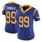 Women's Los Angeles Rams #99 Aaron Donald jersey Blue