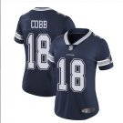Women's Randall Cobb Dallas Cowboys #18 color rush Ladies Jersey navy blue