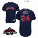 Youth David Price Red Sox Navy Blue 2018 World Series Champions Jersey