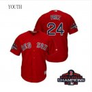 Youth Red Sox Red #24 David Price 2018 World Series Champions Jersey
