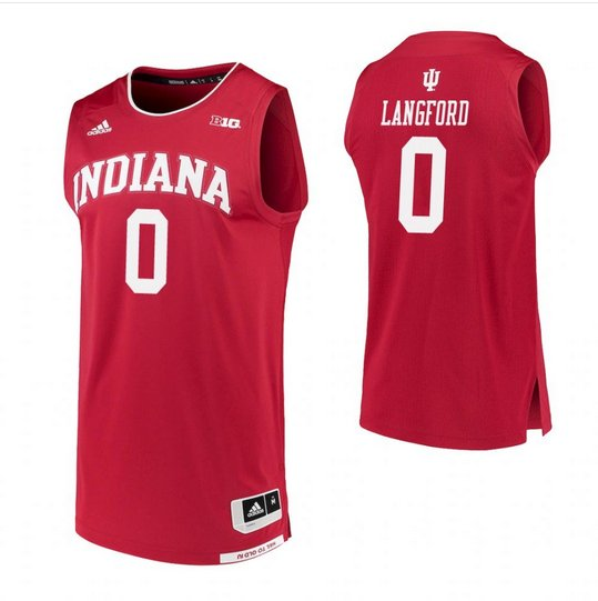Men's Indiana Hoosiers #0 Romeo Langford Red College Basketball Jersey