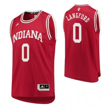 factory authentic 70b96 1245f Men's Indiana Hoosiers #0 Romeo Langford Red College Basketball Jersey