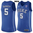 Men's RJ Barrett #5 Duke Devils college jersey Blue stitched