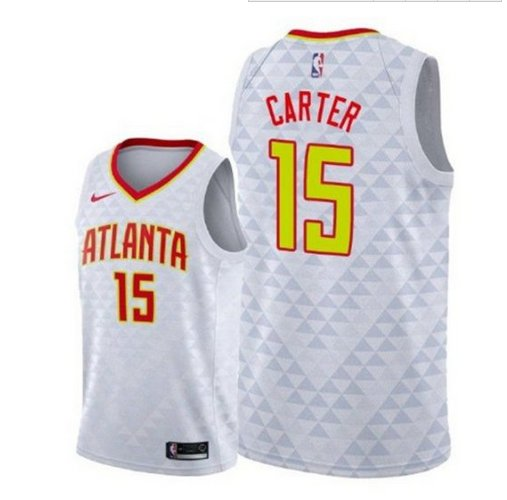Men's Vince Carter Atlanta Hawks #15 Swingman Jersey white