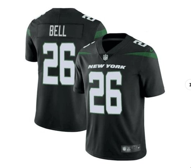 Men's Le'veon Bell New York Jets color rush vapor jersey black 2019