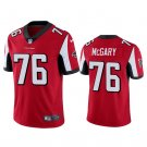 Men's Kaleb McGary Atlanta Falcons #76 Color Rush vapor Jersey red