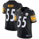 Men's Devin Bush Pittsburgh Steelers #55 Color Rush vapor untouchable Jersey black