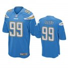 Men's Jerry Tillery Los Angeles Chargers #99 game Jersey light blue