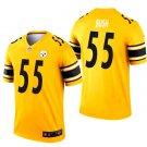 Men's Pittsburgh Steelers 55 Devin Bush inverted legend Jersey gold