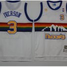 Men's Allen Iverson Denver Nuggets 3 throwback jersey white