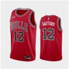 Men's Chicago Bulls #12 Daniel Gafford Red Icon Jersey