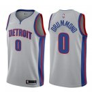 Men's Detroit Pistons #0 Andre Drummond Statement Jersey Gray