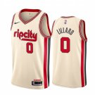Men's Portland Trail Blazers #0 Damian Lillard 2020 Cream City Jersey