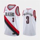 Men's Portland Trail Blazers #3 C.J. McCollum Association Jersey White