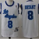 Men's Los Angeles Lakers Kobe Bryant White Throwback Basketball Jerseys Embroidered