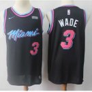 Men's Miami Heat Dwyane Wade Black City Edition Basketball Jersey Embroidered