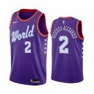 Men's Rising Star USA Team Shai Gilgeous-Alexander #2 Purple Jersey