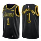 Men's Los Angeles Lakers #1 Kentavious Caldwell-Pope City Edition Black Jersey
