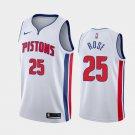 Men's Detroit Pistons #25 Derrick Rose 2019-20 Association Jersey White