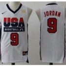 Men's Michael Jordan 1992 Dream Team USA No. 9 jersey white