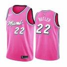 Men's  Miami Heat #22 Jimmy Butler 2019 season Earned Jersey Pink