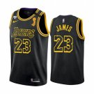 Men's / Youth Lebron James Lakers finals champion city jersey black
