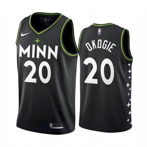 2021 Men's Josh Okogie Minnesota Timberwolves City Jersey Black