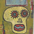 "Jean-Michele Basquiat NYC Street Art Postcard Painting ""SAMO CROWN"""
