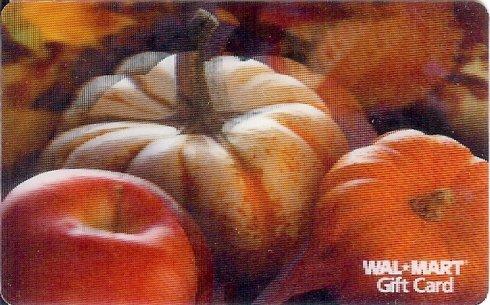Walmart Collectible Gift Card - Lenticular - Pumpkins VL3971
