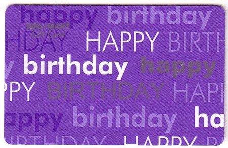 Walmart Collectible Gift Card - Purple Happy Birthday VL3742