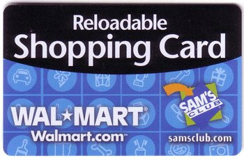 Walmart Collectible Gift Card - Reloadable Shopping Card VL2822 - USED