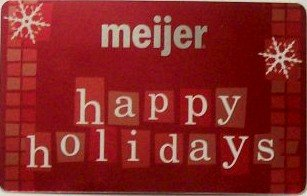 Meijer Collectible Gift Card - Red Foil - Happy Holidays 10892xx