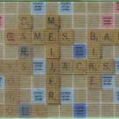 Meijer Collectible Gift Card - Lenticular - Scrabble Game Board 10817xx - USED