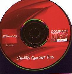 JCPenney Collectible Gift Card - Die-Cut - Rockin' Winter Wonderland CD SV0701072