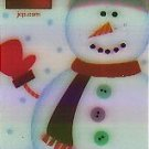 JCPenney Collectible Gift Card - Lenticular + Stickers - Build your own Snowman SV0701038