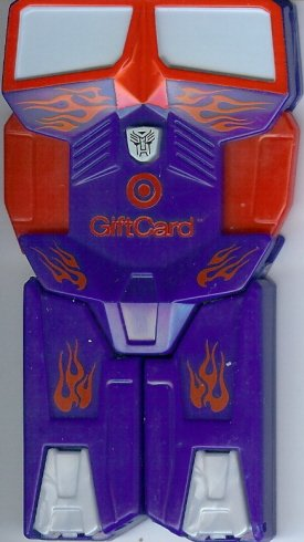 Target Collectible Gift Card - Limited Edition Toy - Transformers Optimus Prime 0960