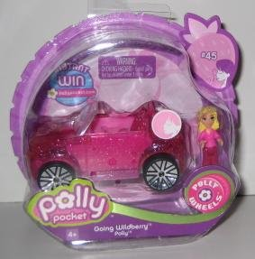 Polly Pocket - Polly Wheels #45 Going Wildberry Polly